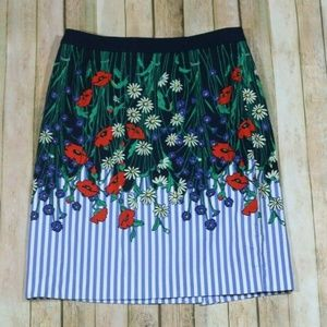 Postmark Anthro Vertical Garden Pencil Skirt